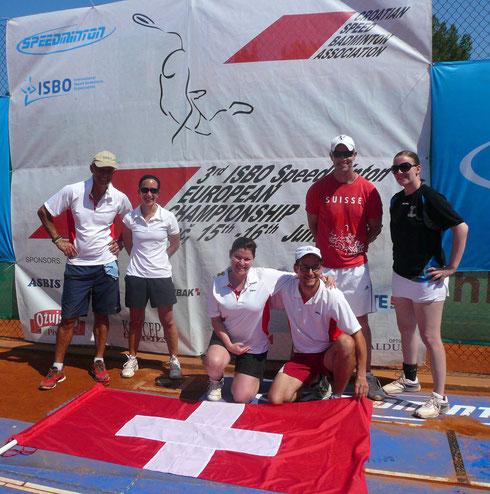 Schweizer Team an der EM in Porec.