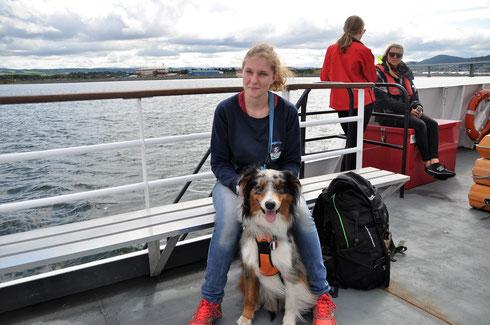 Dolphin Spirit à Inverness en Ecosse avec son chien