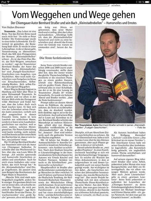 Bernhard Straßer, Kleinstadtrebellen