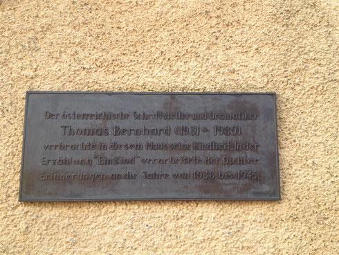 Inschrift Thomas Bernhard Traunstein