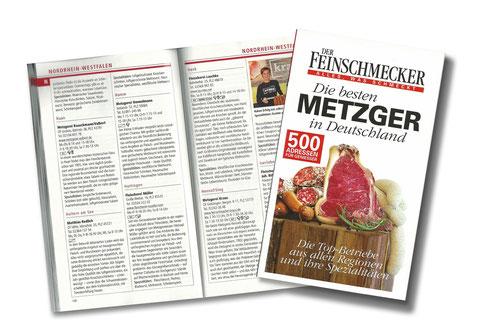 Der Feinschmecker wählt uns zu den Besten 500 Metzgern Deutschlands