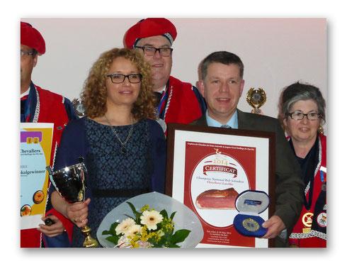 Christoph und Petra Laschke bei der Preisverleihung in Roermond