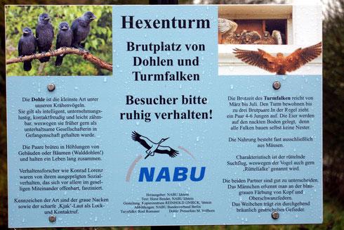 Die Hinweistafel im Wortlaut      Fotos:NABU Idstein