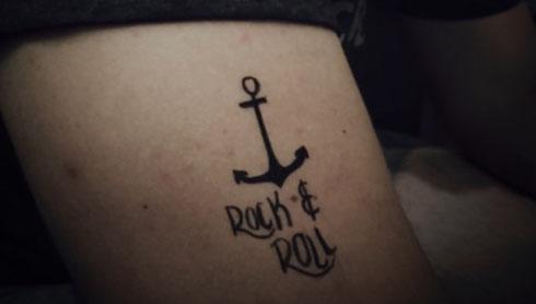 Das Tattoo dass mir Michelle verpasst hatte