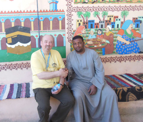2016 Mahmud and I had a Long Chat About his Haj Painting behind us