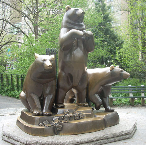 2009 Paul Manship's Three Bears is a Favorite Central Park Sculpture