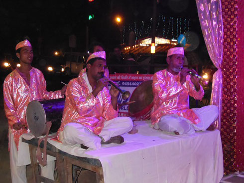 2013 Musicians Performing at a Diwali Street Festival in Agra