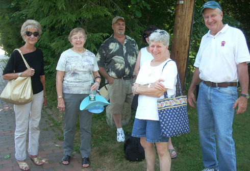 2011 A Group of our Passengers on a Wiscasset Sidewalk - Another Beautiful Day in Maine