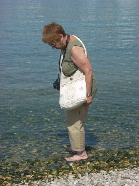 2011 Mykonos - The Blue Agean is as Warm as Bath Water in Mykonos Harbor