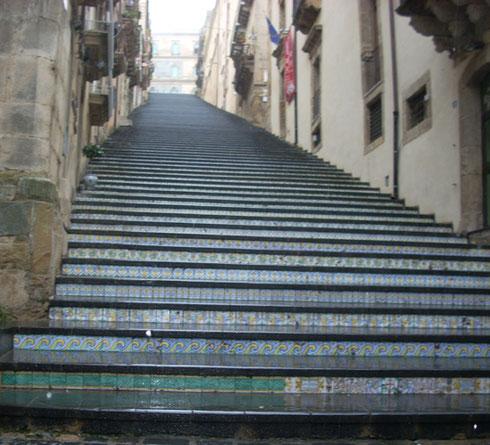 2011 Some of us Climbed the Scala de Santa Maria del Monte in Caltagirone, Sicily