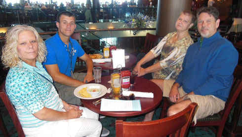 2015 Lunch in the Pub Aboard Norwegian Gem while on our Nova Scotia Cruise