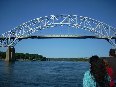 We'll Cruise under the Bourne Bridge Spanning the Cape Cod Canal and Opened in 1935