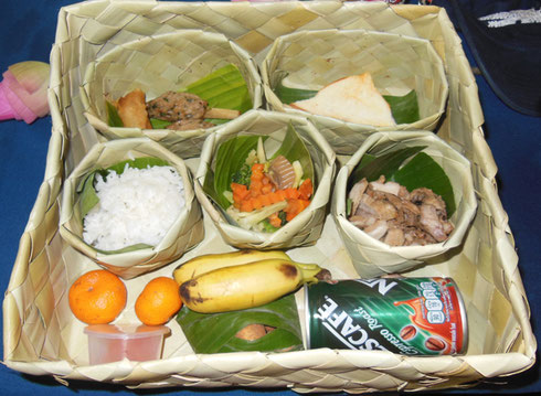 2015 A Boxed Lunch at the Kompong Phhluk Restaurant at Cambodia's Largest Lake