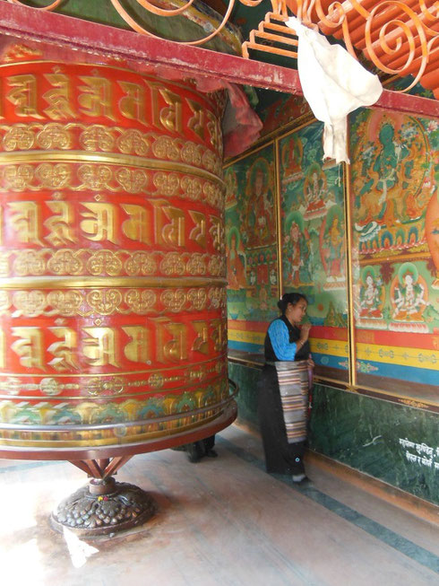 2013 This Giant Prayer Wheel was constantly in use by Pilgrims at Boudhanath Stupa