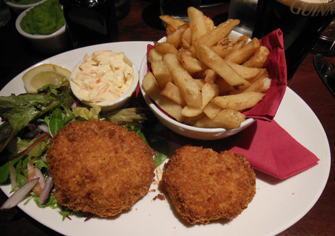 2014 Thai Fish Cakes at Garretts in Belfast, Northern Ireland with Wonderful Chips