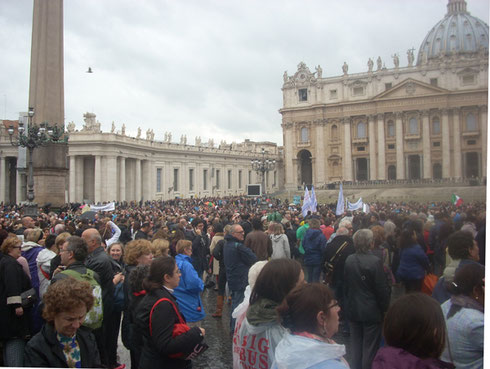 2012 A Group of us Attended Pope Benedict XVI's Blessing at St. Peter's Square