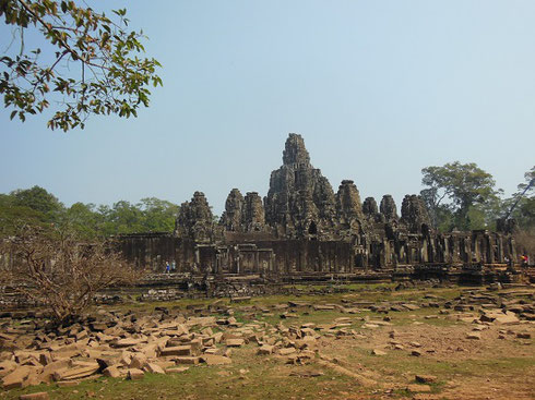 2015 Bayon Temple in the Ancient City of Angkor Thom with its Carved Stone Faces