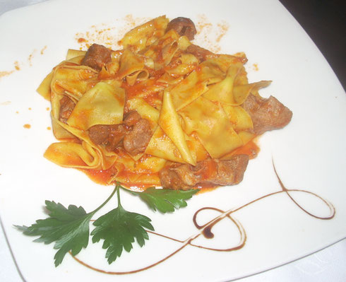 2012 Montecatini Terme - Try the Tagliatelle con Chingale - yes, Wild Boar Sauce