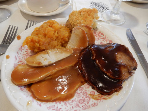 Our New England Buffet included Turkey with the Fixings and Old-Fashioned Pot Roast