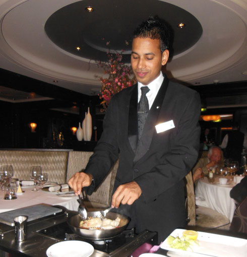 2013 Tableside Service is Standard Fare in the Specialty Restaurants on Board