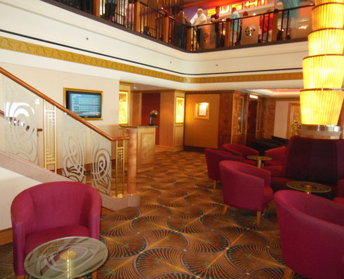 2015 One of the Deck Five Lounges Aboard Norwegian Gem, our Home Away from Home
