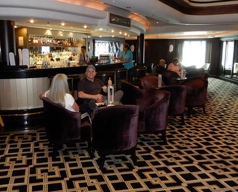 One of more than fifteen Bars and Lounges aboard Luxurious Norwegian Gem