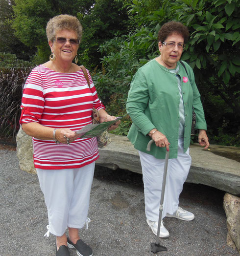 2015 We all Left the Coastal Maine Botanical Gardens with Happy Memories