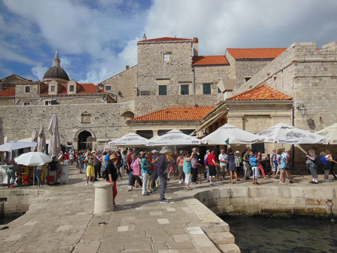 The Red Roofs and Stone Buildings of the Old Port of Dubrovnik are Iconic