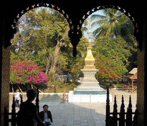 2015 A view of the Complex from Vat Xieng Thong Sim Temple in Luang Prabang, Laos