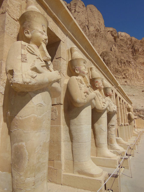 2016 Queen Hatshepsut's Valley Temple Features Rows of Columns Carved in her Image