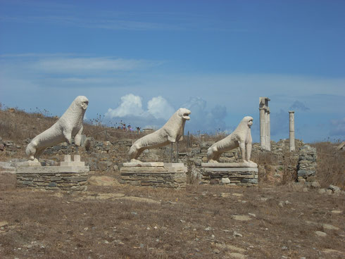 2011 Delos - The Ancient Lion Terrace on the Island of Delos was a Thrill to See