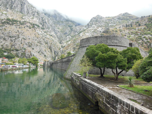 Montenegro's Walled City of Kotor is Built Tight to the Mountains and Protected by a Moat