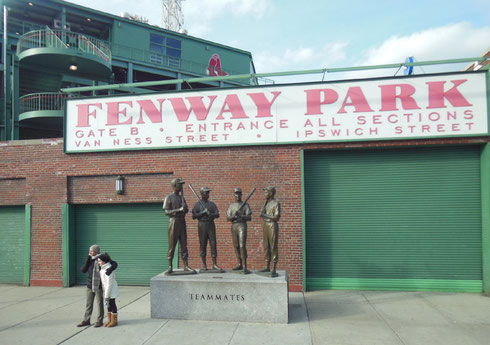 Fenway Park was one of the stops on our Tour of Boston
