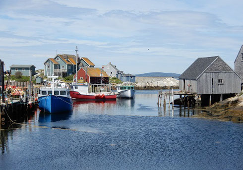 A Bright, Sunny Day at Peggy's Cove near Halifax, Nova Scotia
