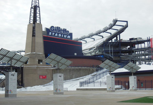 Foxboro Stadium is the Home of the New England Patriots - A Winter View