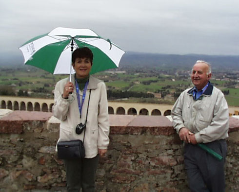 2005 The Collette Umbrella came in Handy on this Rainy Day in Assisi