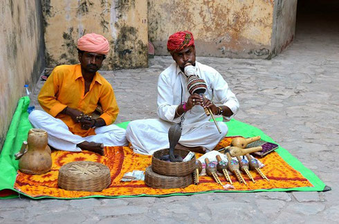 2013 Snake Charmers at the Amber Fort in Jaipur