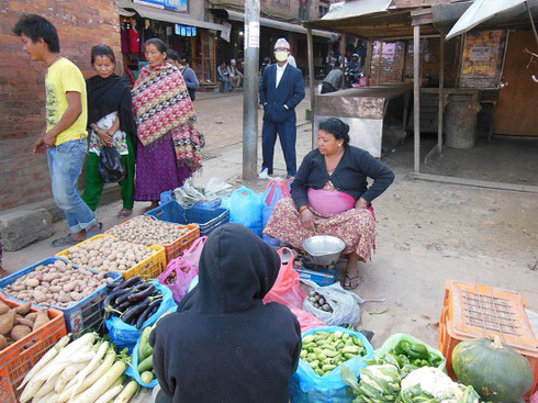 2013 The potatoes are looking good at this week's market in Bhaktapur