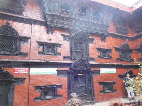 2013 We saw the Kumari, the Living Goddess, in the top Windows of the Kumari Bahal