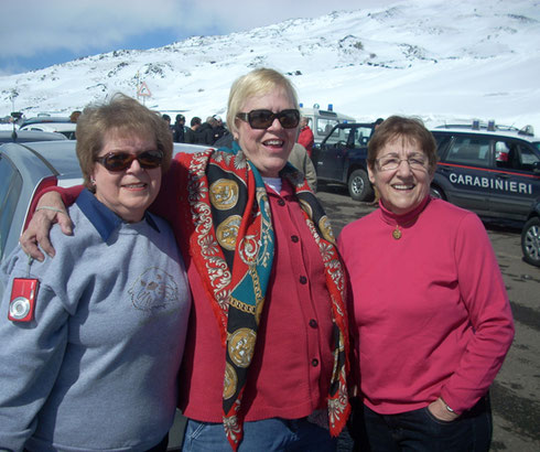 2011 Snow Fell on Mount Etna the Night befor our Visit - What a Commotion!
