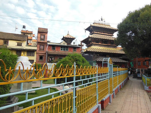 2013 We visited the Patan North Golden Temple a couple of blocks from Durbar Square