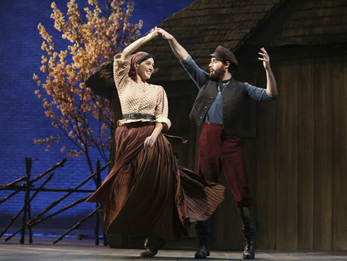 Dancers on the set of Fiddler on the Roof