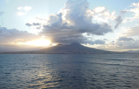 2013 We Sailed Past Mount Vesuvius at Dawn Before Anchoring in Naples, Italy