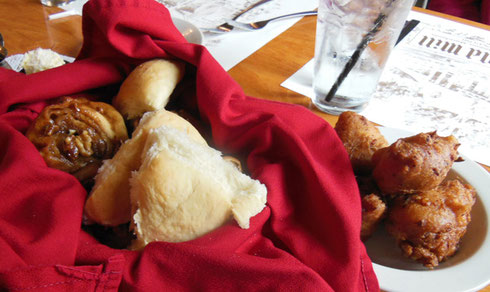 The 1761 Old Mill is famous for their Bread Basket and Corn Fritters