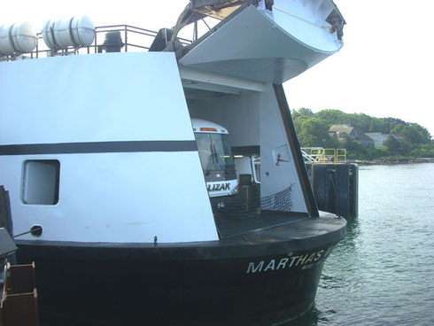 Our Lizak Bus Service Motor Coach traveled with us on the  Martha's Vineyard Ferry
