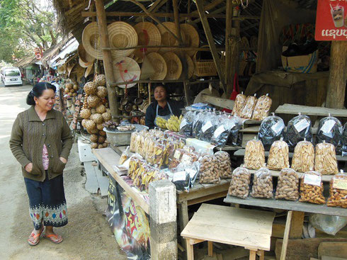 2015 Vendors sold a variety of wares in a small market village near the falls