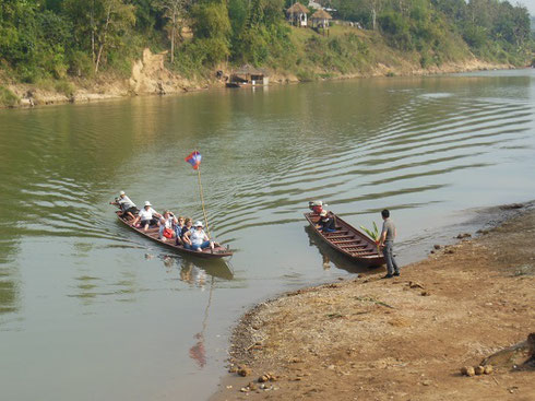 2015 We took Small Boats from the Elephant Camp to the Nursery Across the River