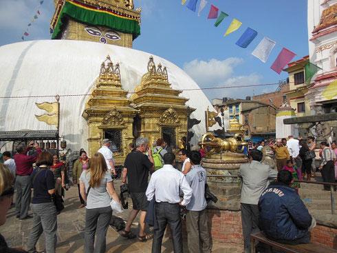 2013 The Swoyambhuanth Stupa, Kathmandu's famous Monkey Temple