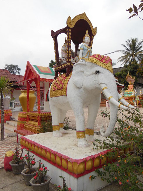 2015 The Temple Complex at this little village had this Wonderful Elephant Shrine