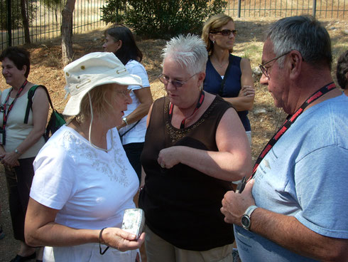 2011 Mycenae - Some of our Group Preparing to Visit the Beehive Tomb of Agamemnon